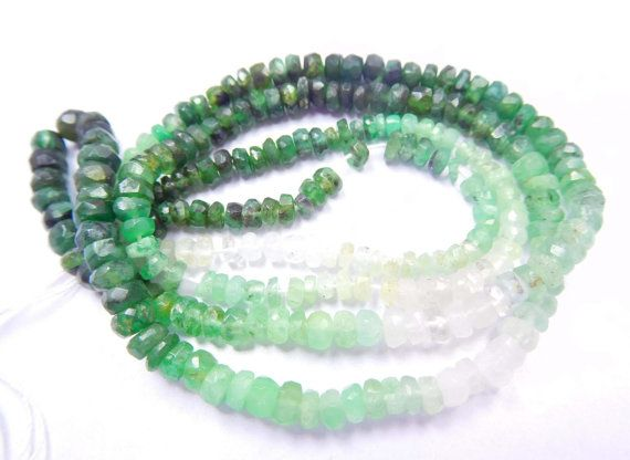 Ombre Emerald Rondelles 3mm to 4mm, 17 Inches,Shaded Natural Emeralds Rondelles, No Treatment Micro Faceted Loose Gemstone Beads An34    Receive One Similar To The Photo. Color And Patterns May Vary.    Stone: Emerald     Shape: Micro Faceted Rondelle Beads.    Style: Faceted Style.    Clarification:-    Lighting And Background Causes Different Effects. Color May Not Appear Exactly As In Pictures Due To Monitor Resolution And Light, So Please See All Photos Before Bidding Or Buy.    Weight…