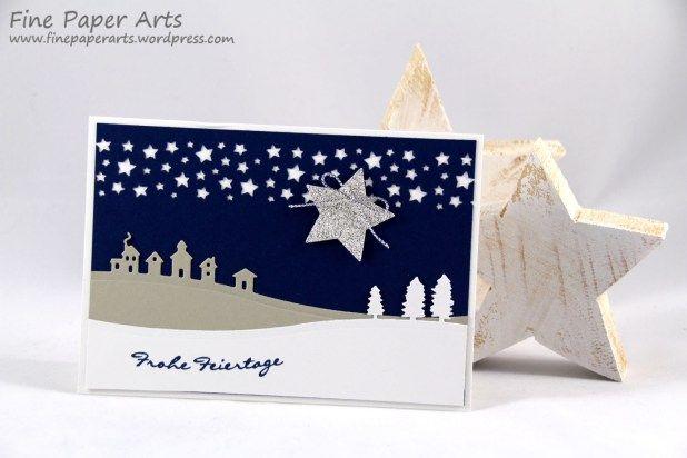 Stampin up, Weihnachtskarte, Christmas card, Weihnachten, Stempelset Kling Glöckchen, Edgelits Formen Schlittenfahrt, Jingle All the Way, Sleigh Ride Edgelits Dies - Fine Paper Arts