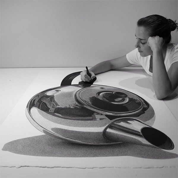 These are not photos! Amazing pen drawings by artist CJ Hendry