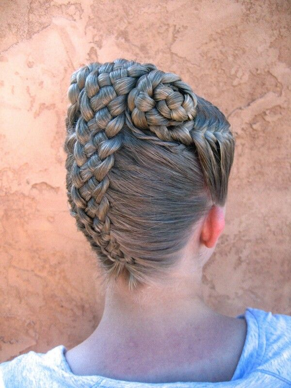 how to draw two french braids from the front
