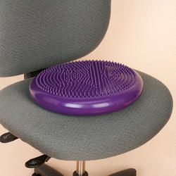 Use this softly inflated rubber disc to help relieve lower back pain, strengthen core muscles, and improve posture A great relief at work, long trips on the road, sporting events, and much more
