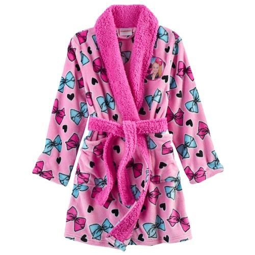 NWT JoJo Siwa Nickelodeon Girls Plush Fleece Bed Bath Robe Pajamas Bow Size 8 #Nickelodeon #Robe