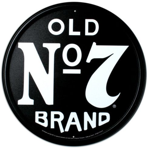 Old Number 7 Tin Sign - Do you recognize the brand from this font?