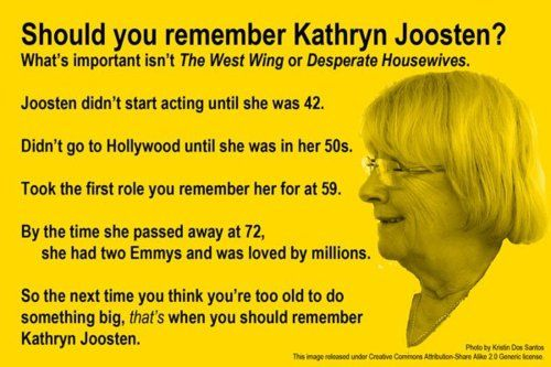 Should you remember Kathryn Joosten?  Hell yes!  She is an inspiration and funny lady.