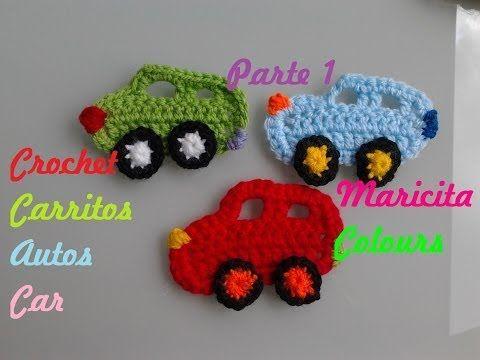 """Crochet Tutorial Carrito /Coche """"Toñito"""" (Parte 1) por Maricita Colours - YouTube"""
