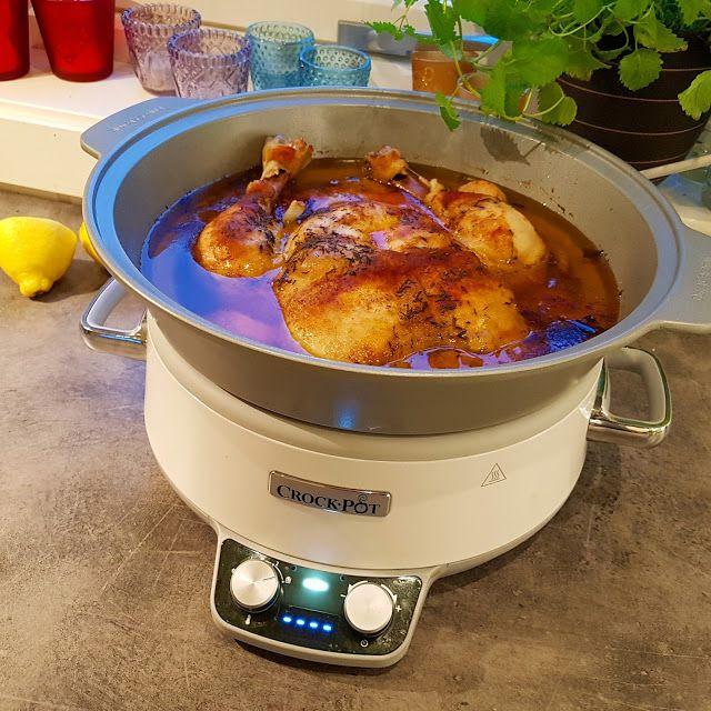 Edels Mat & Vin: Hel kylling i Crock-Pot med hvitløk, sitron, hvitv...