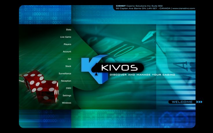 by Argiro Stavrakou, year 2010, KIVOS software open screen. KIVOS is a software that a company in Kanada designed especially for cazinos and big hotel chains. (it designs casino software)