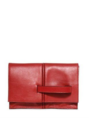 Dual Leather Clutch Valentino