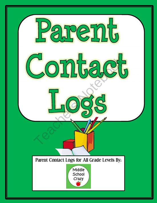 FREE Parent Contact Log from Middle School Crazy on TeachersNotebook.com -  (6 pages)  - I am happy to share my simple, generic parent contact logs with you. This free download includes two different types of parent contact logs, a generic parent contact log and an individual student contact log.  1. The �running contact log� is a where I rec