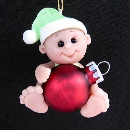 *POLYMER CLAY ~ baby by Clayin Around, via Flickr