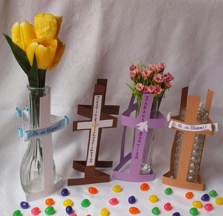 17 best ideas about baptism table decorations on pinterest elegant centerpieces table - Simple baptism centerpieces ...