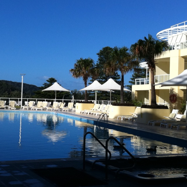 Pool Side - Mantra Resort at Ettalong Beach, NSW - Australia.