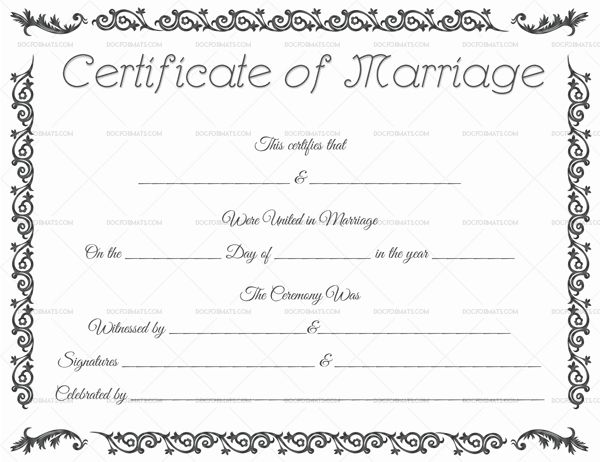 34 best printable marriage certificates images on for Commemorative certificate template