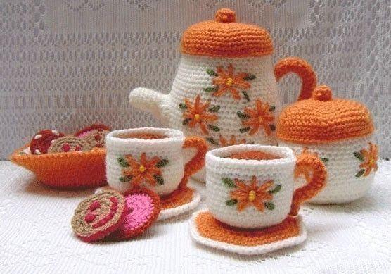 Amigurumi Crochet Pattern - Tea Set.