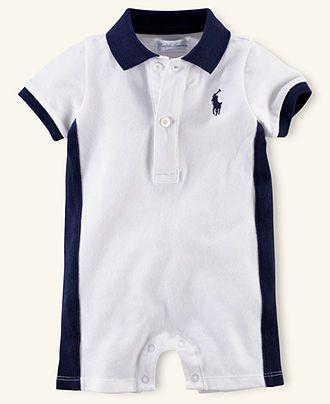 Ralph Lauren Baby Shortall, Baby Boys Pieced Polo Shortall - Kids - Macys