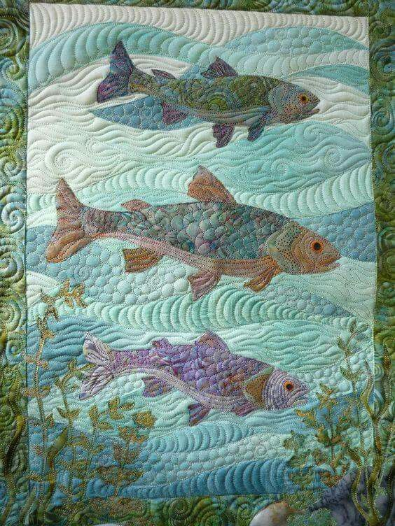Beaconsfield Quilt Guild -Fish Under The Sea