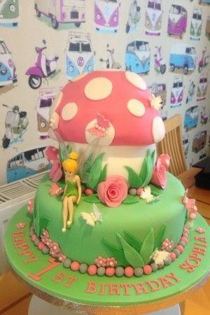 1st Birthday Cake Ideas for Girls tinkerbell