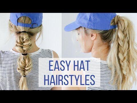 Easy Hat Hairstyles - Hair Tutorial | Kayley Melissa - YouTube | Bloglovin'