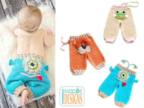 Hey, I found this really awesome Etsy listing at https://www.etsy.com/listing/151903146/crochet-pattern-silly-creatures-pants-3