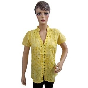 Womens Boho Fashion Tunic Sequin Embroidered Cotton Blouse Top Medium Size (Apparel)  http://howtogetfaster.co.uk/jenks.php?p=B00871HSMC  B00871HSMC