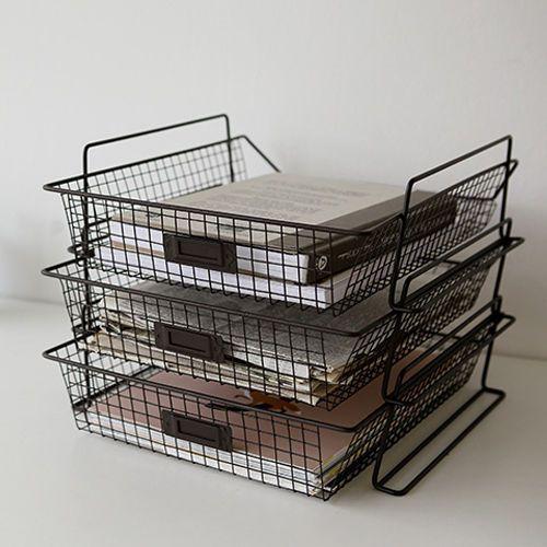 Black-storage-baskets-vintage-wire-basket-wire-egg-basket-rectangle-wire-basket
