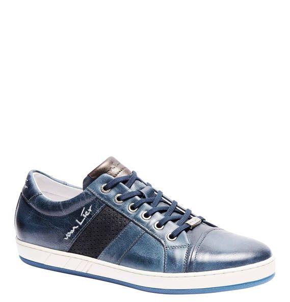 #VAN #LIER #Sneaker, #Leder-Kombi, #Textil - Sportlicher Sneaker aus Leder mit…