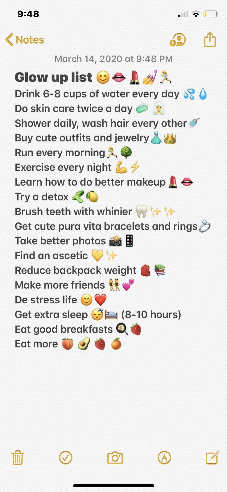 Checklist glow checklist glow up checklist beauty