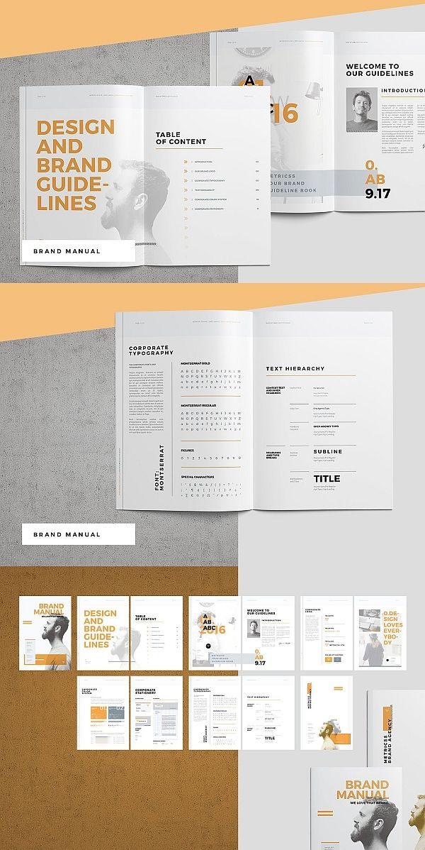 Brand Manual Layout Design, Layout design, Brochure Design