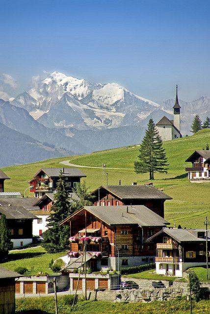 A swiss village in Rhone valley near Münster, Germany   www.facebook.com/loveswish