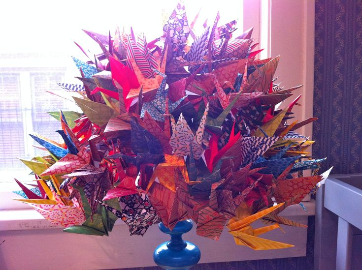 Artsy origami cranes for sale - http://www.ikuzoorigami.com/artsy-origami-cranes-for-sale/