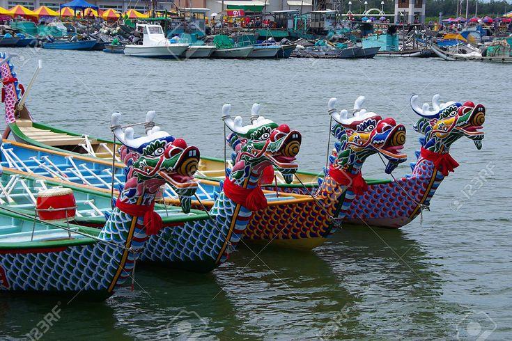 Taiwan Dragon Boat Races At Chinese Traditional Dragon Boat ...