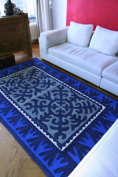 Nederlands bv  Nomad Carpet. Shyrdak Carpet from Kyrgystan. Fair Trade Felt Rug.
