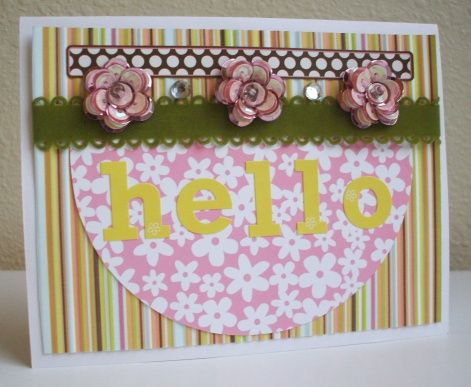Cardmaking using a Circle Template
