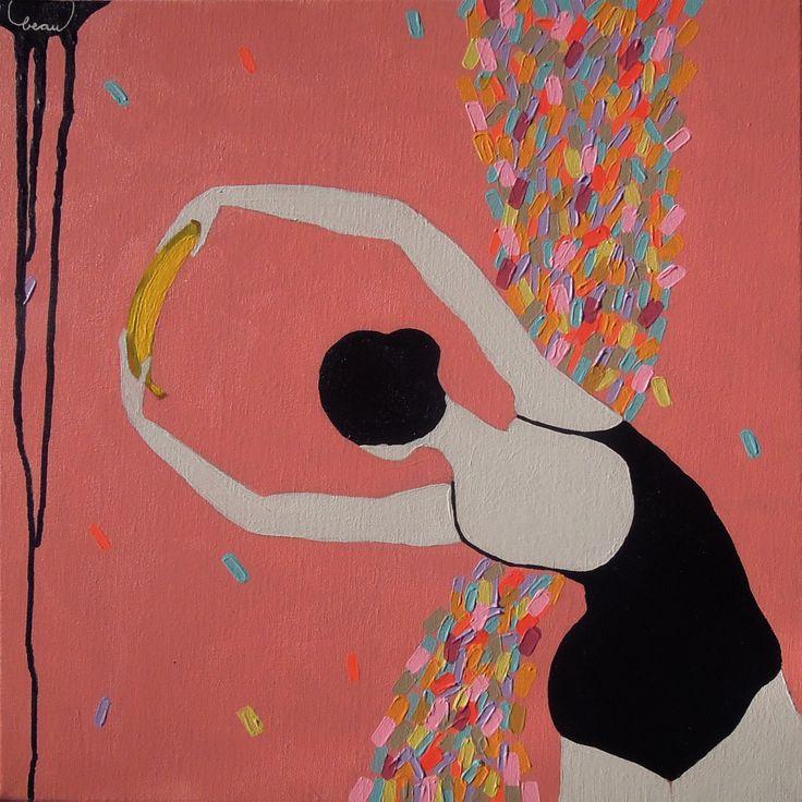 beau acrylic on canvas 50cm x 50cm