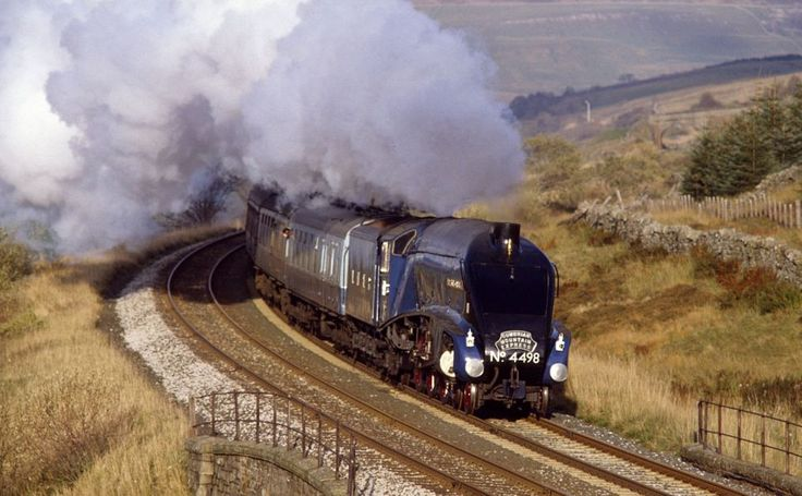 In action: The Sir Nigel Grestley takes passengers across North England from Carlisle to Settle, travelling through Yorkshire