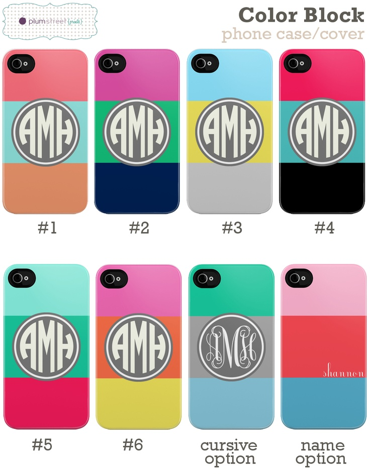 our new cases released today! color block iPhone case #plumstreetprints