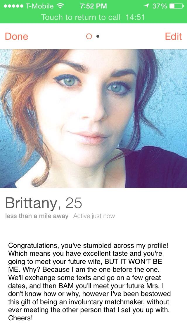 Best Tinder Profile of All Time