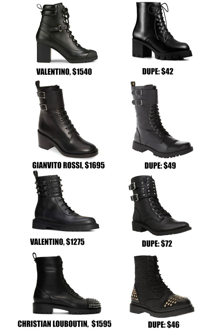 Combat Boot Designer Dupes for Fall and Winter Combat  Combat