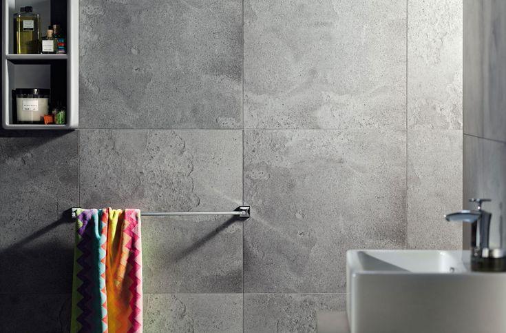 Cement Worn. #interior #decor #home #bathroom