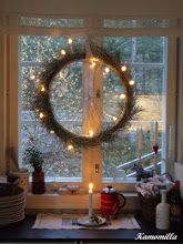Bicycle Wheel with Christmas lights