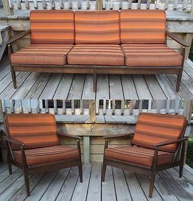 White Leather Sofa Danish Sofa u Chair Set
