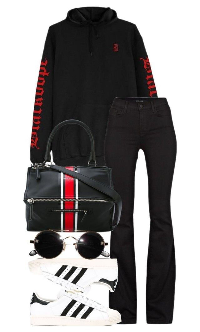 """Look:#548"" by dollarwomanlux ❤ liked on Polyvore featuring J Brand, Givenchy and adidas Originals"