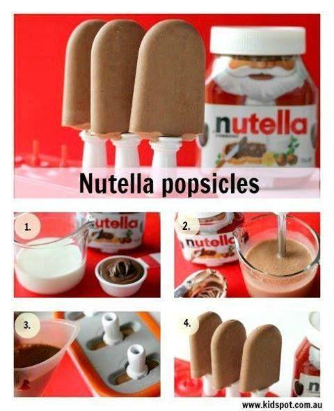 Come fare ghiaccioli con nutella