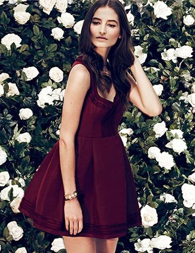 RED Valentino dress in Oxblood