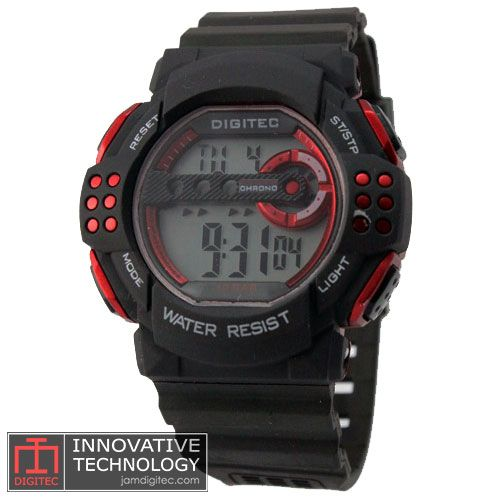 jam tangan digitec dg 3006t hitam merah digital watch