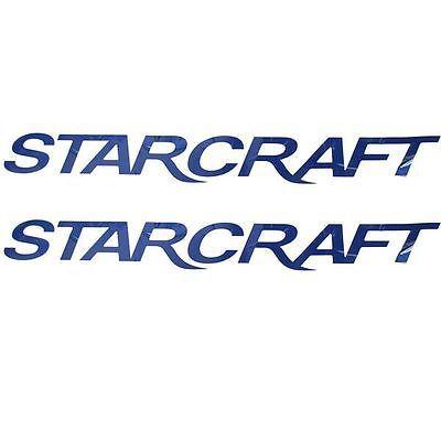 STARCRAFT NAVY BLUE 35 INCH LOGO BOAT DECALS PAIR