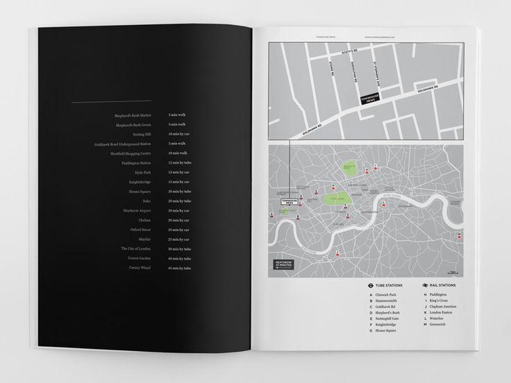 Elegant Brochure Design Townhouse Location Map  Creative Design