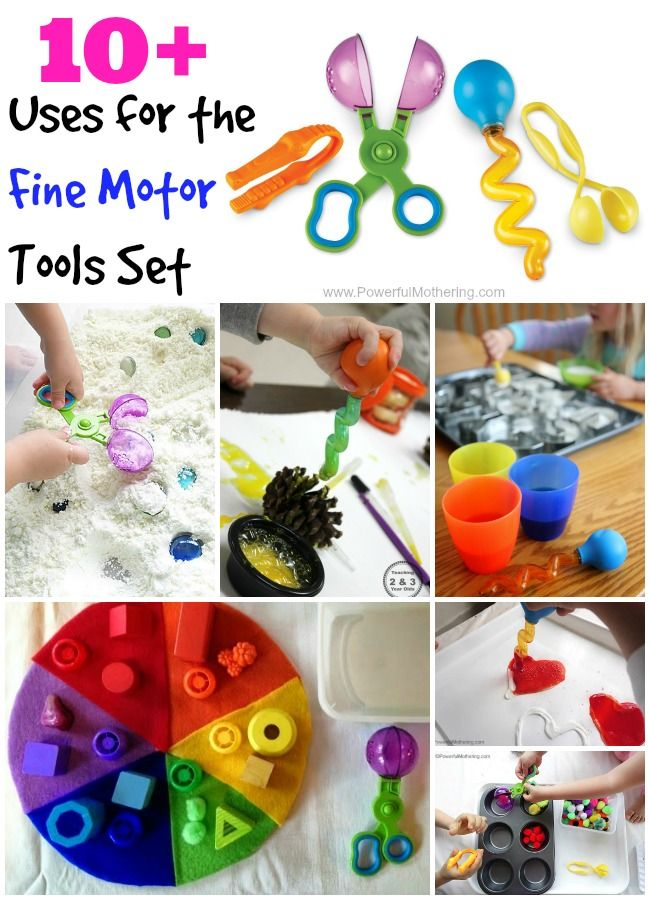 Uses for the Fine Motor Tools Set that the kids have.