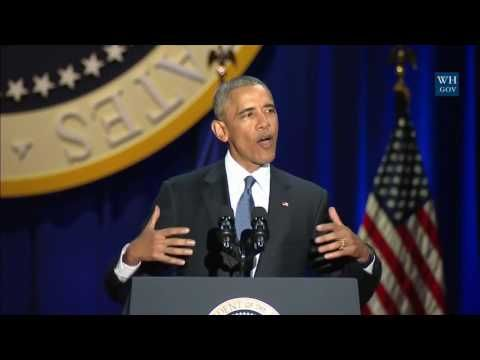 President Barack Obama s Farewell Address to the American People in Chicago