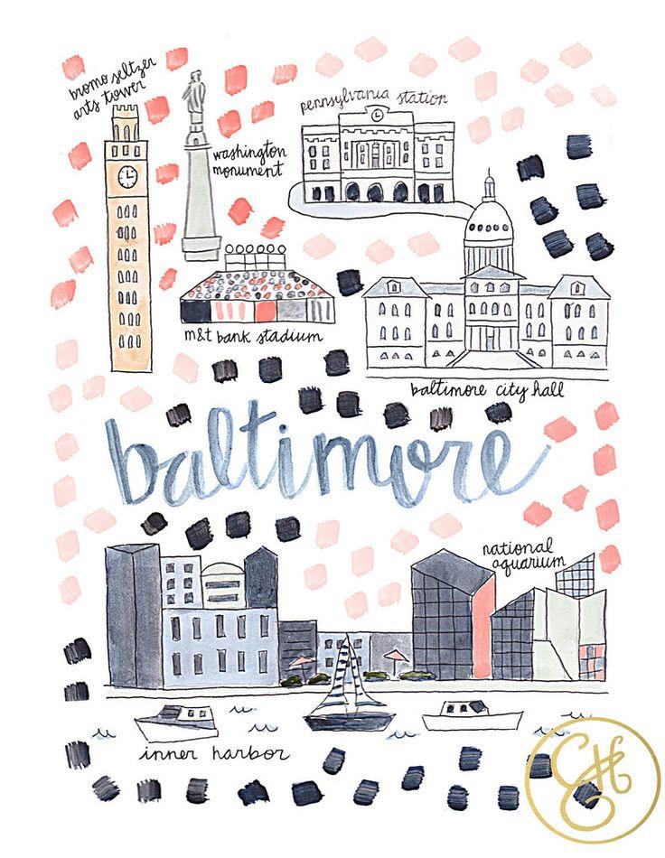 Baltimore Map Print – Evelyn Henson